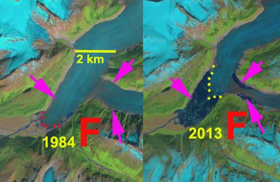field glacier change