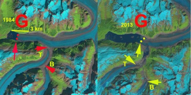 gilkey glacier change