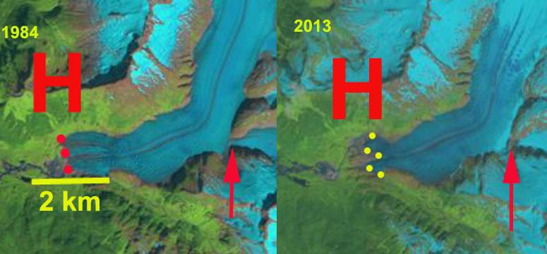 herbert glacier change