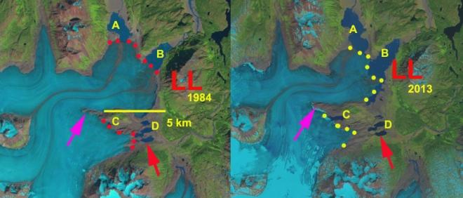 lewellyn glacier change