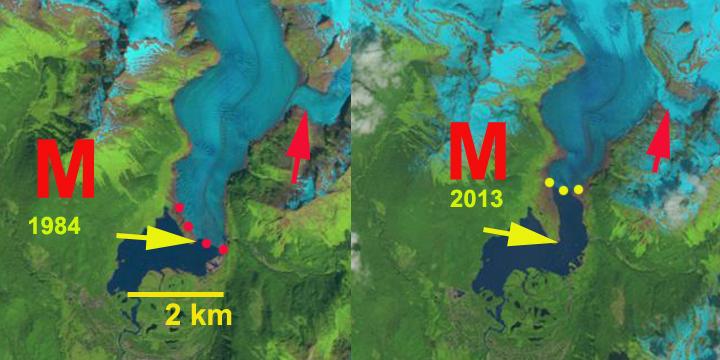 mendenhall glacier change
