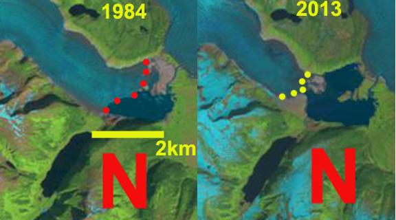 norris glacier change