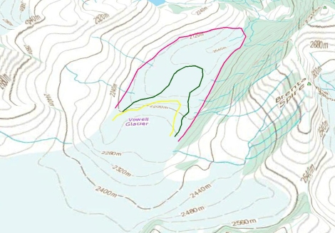 vowell glacier map overlay