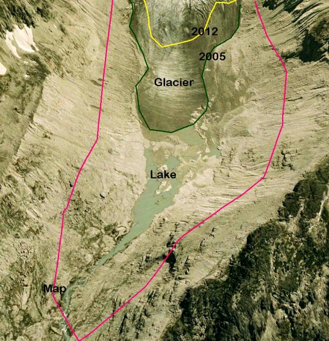 vowell glacier terminus 2005