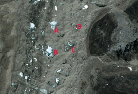 khumbu glacier lakes 2003
