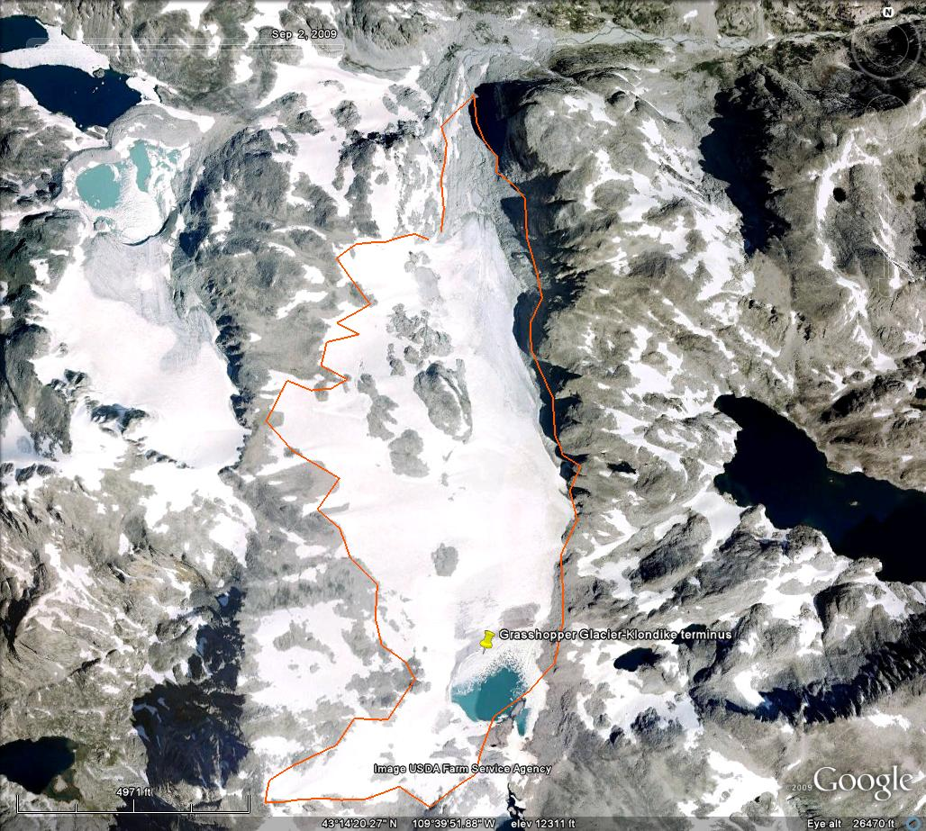 Grasshopper Glacier Wyoming disappearing – From a Glaciers