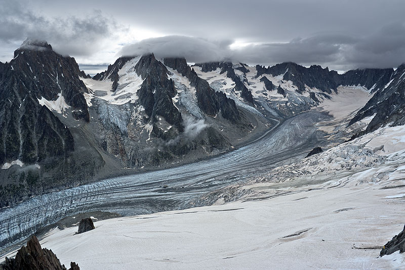 Argentiere France  city photos gallery : Retreat of Glacier d'Argentiere, France | From a Glaciers ...