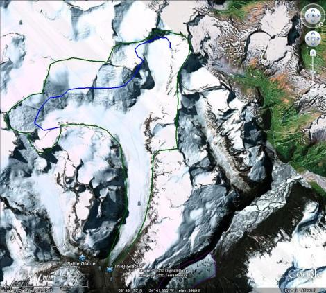 Theil Glacier overview