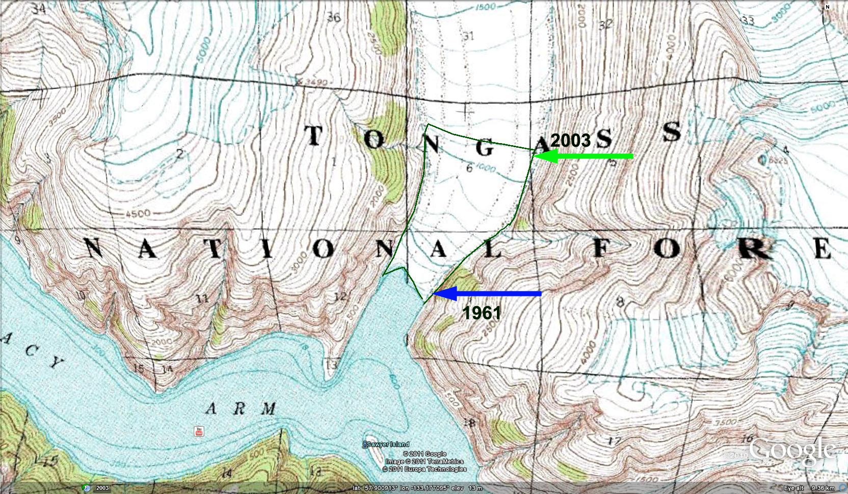 Saywer Glacier, Alaska Retreat - From a Glacier's Perspective - AGU on