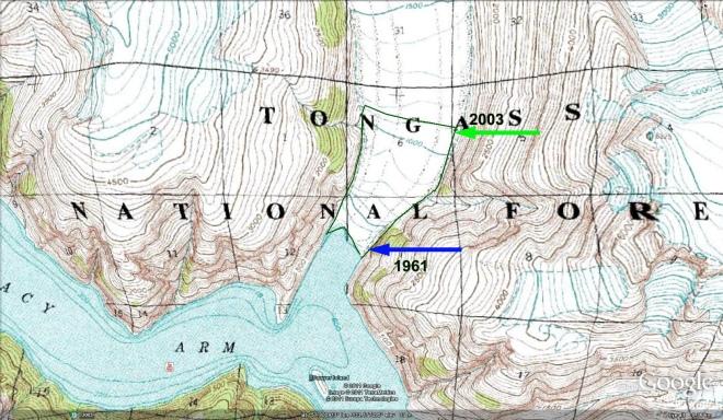 sawyer glacier map