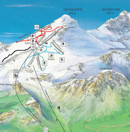 Grande Motte Pramort Glacier Retreat And The Tignes Ski Area France From A Glacier S Perspective Agu Blogosphere