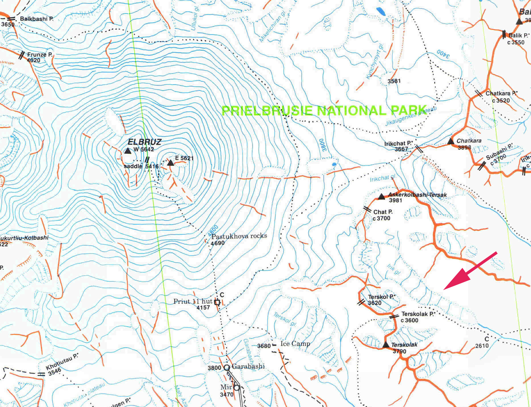 Irik Glacier Retreat Mount Elbrus Russia From A Glaciers - Mt elbrus map