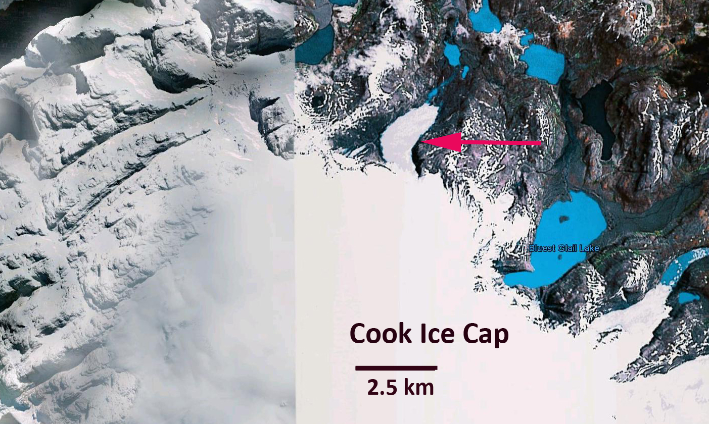 Outlet aggasiz glacier retreat new lake born kerguelen island