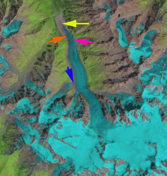 karaugom glacier 1986