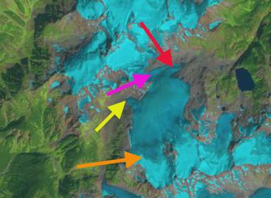 snowcap creek glacier 1992