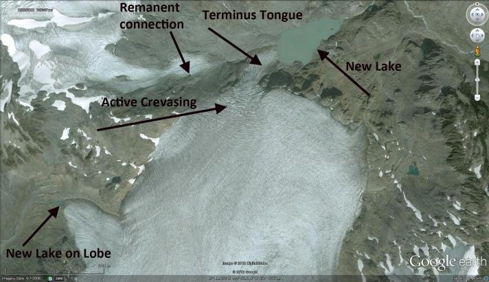 snowcap creek glacier terminus