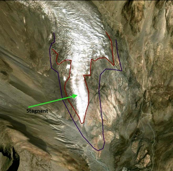 glacier blanc terminus 2010