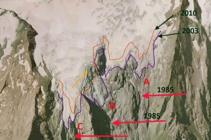 glacier girose terminus 2003