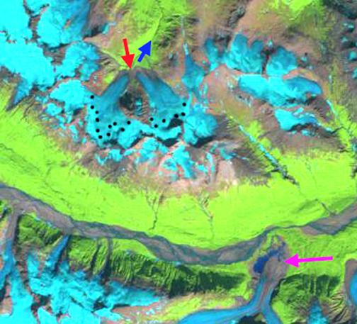 Gold rush glacier 2004
