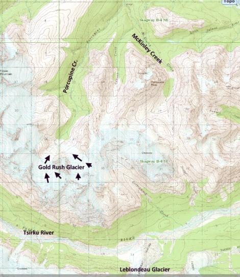 gold rush glacier map