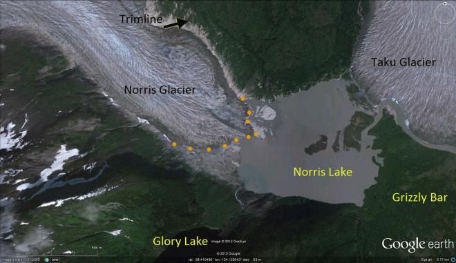 norris glacier 2010