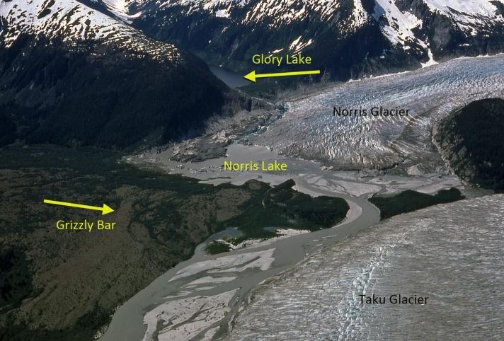 norris glacier terminus 1975