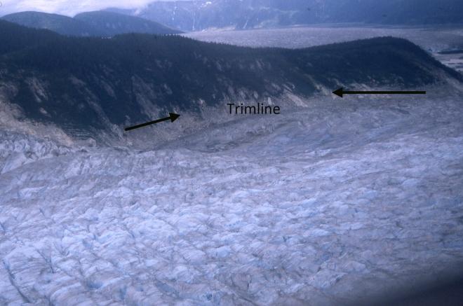 norris glacier terminus east 1998