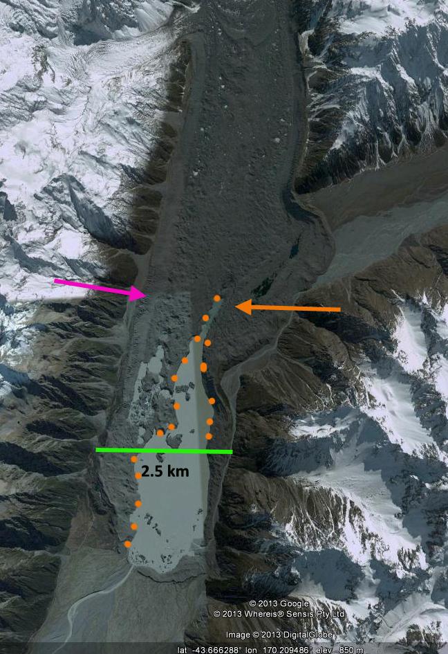 tasman glacier 2006