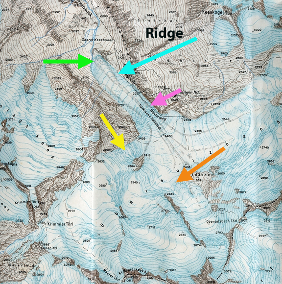 obersulzbachkees map