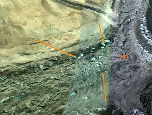 formation and drainage of supraglacial lakes The supraglacial lakes formation and distribution will  major source of rivers in the internal drainage basins in central asia, eg, the tarim basin and balkhash.