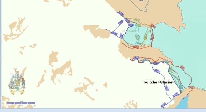 twitcher glacier map