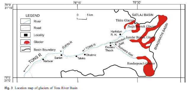 tons river map