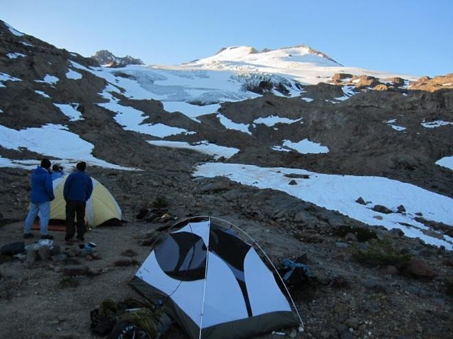 Camp below Easton Glacier