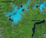 Landsat 8 image of the Mount Baker study area on July 14th