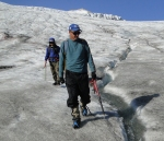 Low slope of lower Easton Glacier