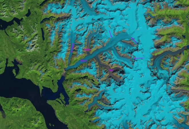 baird glacier landsat8