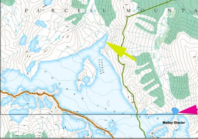 conrad icefield map