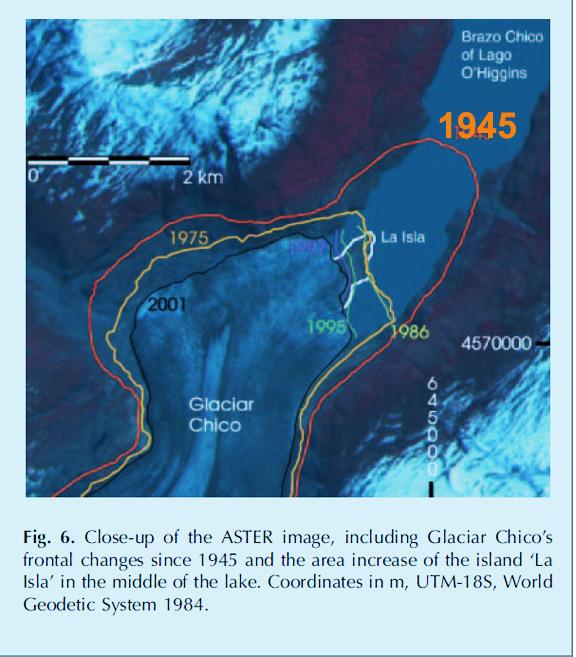 glaciar chico retreat