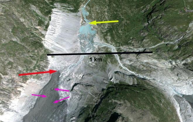 glacier du mont mine terminus