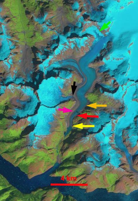 north dawes Glacier 1990