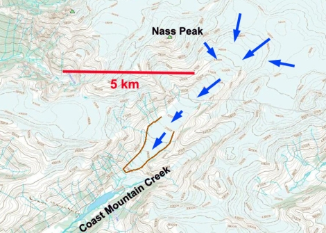Nass peak map