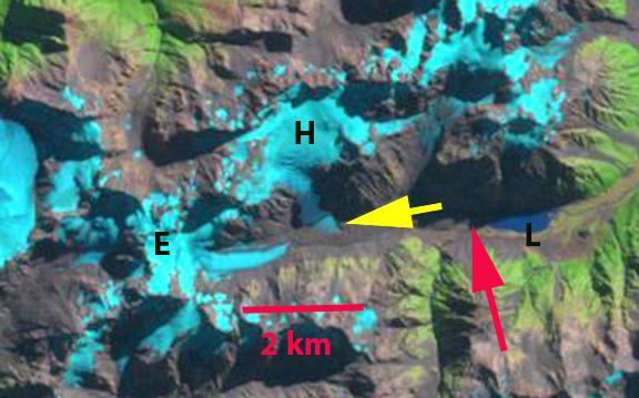 lyell glacier 2000