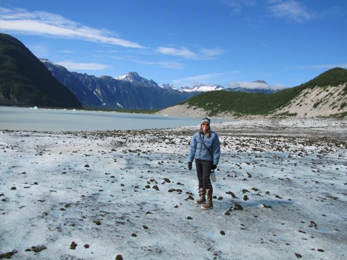 Walker glacier lake