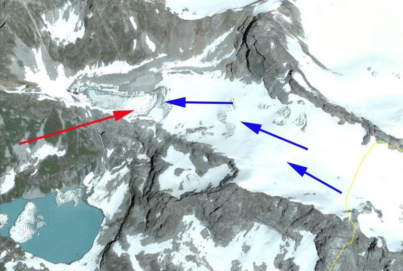 klukhori glacier lake
