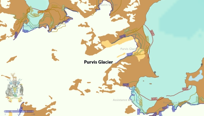 purvis glacier map
