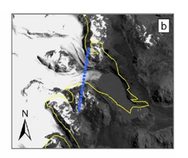 arago glacier 2001 map