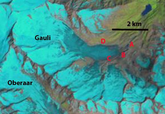 gauli glacier 1990