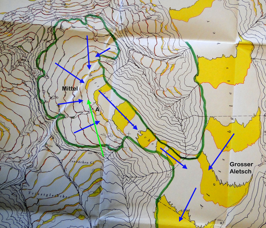 Switzerland Elevation Map.Swiss Glacier Retreat From A Glaciers Perspective