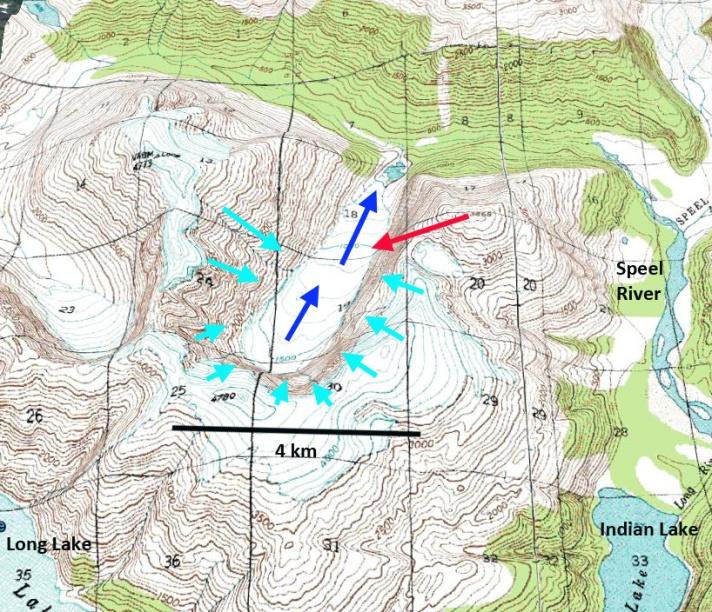 long peak glacier