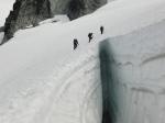 Crevasse stratigraphy on Lynch Glacier